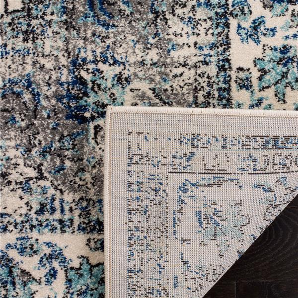 Safavieh Evoke Rug - 5.1' x 5.1' - Polypropylene - Gray/Ivory