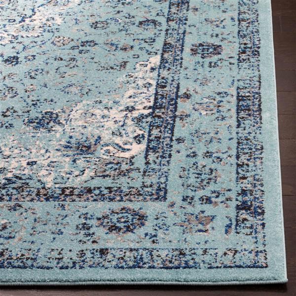 Safavieh Evoke Rug - 2.2' x 11' - Polypropylene - Light Blue
