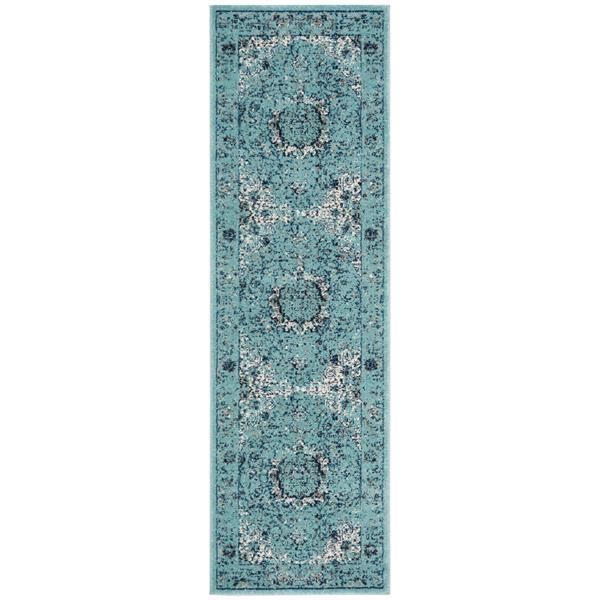Safavieh Evoke Rug - 2.2' x 9' - Polypropylene - Light Blue