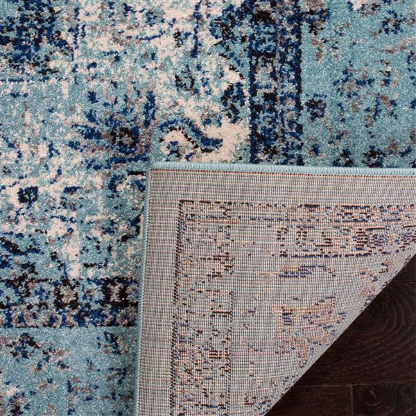 Safavieh Evoke Rug - 5.1' x 5.1' - Polypropylene - Light Blue
