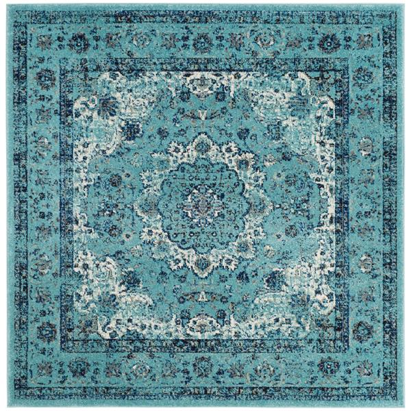 Safavieh Evoke Rug - 5.1' x 5.1' - Polypropylene - Light Blue