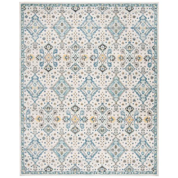 Safavieh Evoke Rug - 11' x 15' - Polypropylene - Ivory/Light Blue