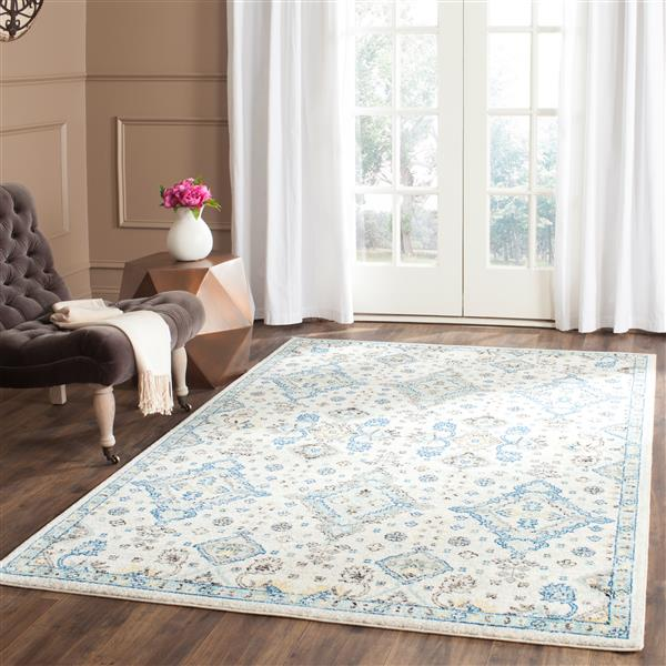 Safavieh Evoke Rug - 4' x 6' - Polypropylene - Ivory/Light Blue