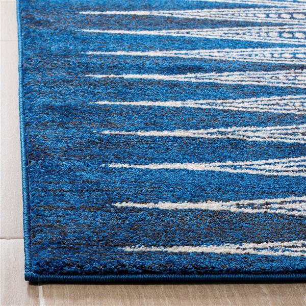 Safavieh Evoke Rug - 2.2' x 9' - Polypropylene - Royal Blue/Ivory