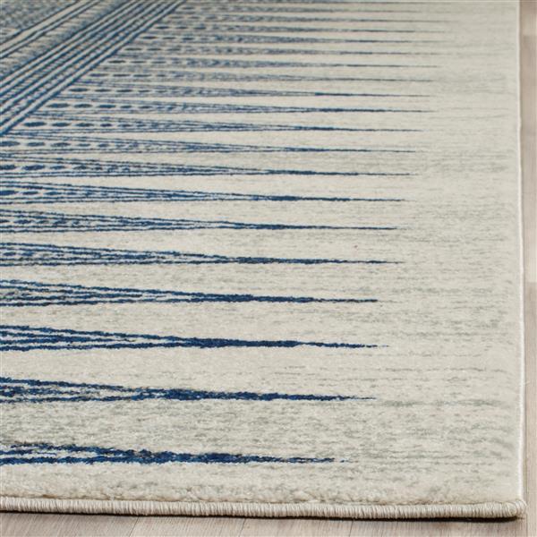 Safavieh Evoke Rug - 2.2' x 7' - Polypropylene - Ivory/Blue