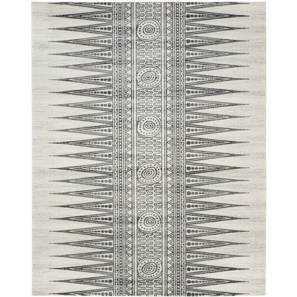Safavieh Evoke Rug - 10' x 14' - Polypropylene - Ivory/Gray