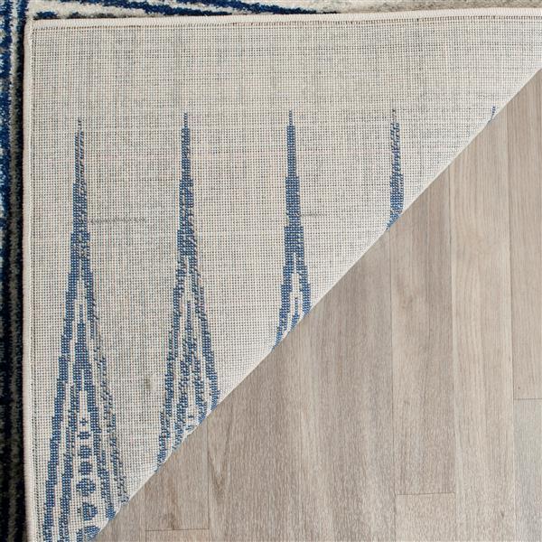 Safavieh Evoke Rug - 4' x 6' - Polypropylene - Ivory/Blue