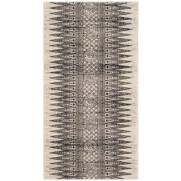 Safavieh Evoke Rug - 2.2' x 4' - Polypropylene - Ivory/Gray