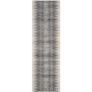 Safavieh Evoke Rug - 2.2' x 7' - Polypropylene - Ivory/Gray