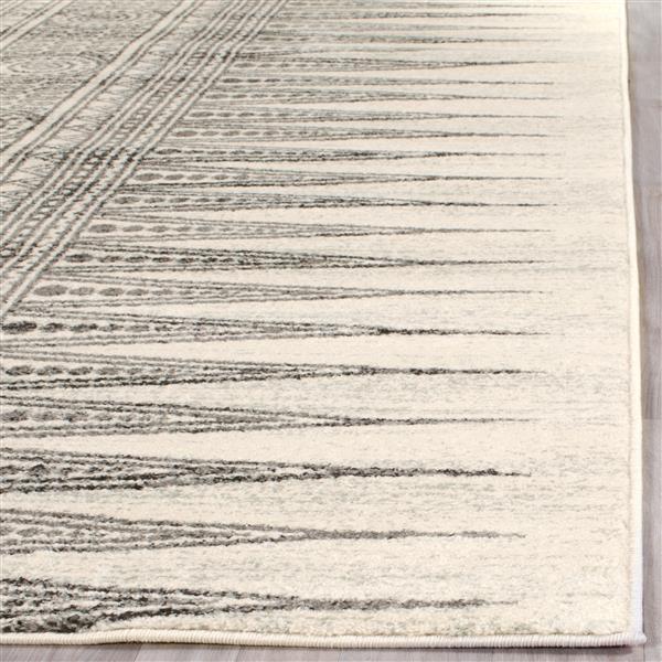 Safavieh Evoke Rug - 3' x 5' - Polypropylene - Ivory/Gray