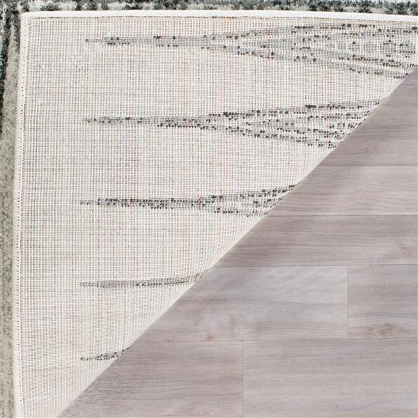 Safavieh Evoke Rug - 4' x 6' - Polypropylene - Ivory/Gray