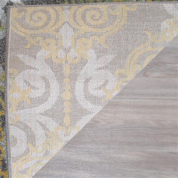 Safavieh Evoke Rug - 2.2' x 13' - Polypropylene - Gray/Ivory
