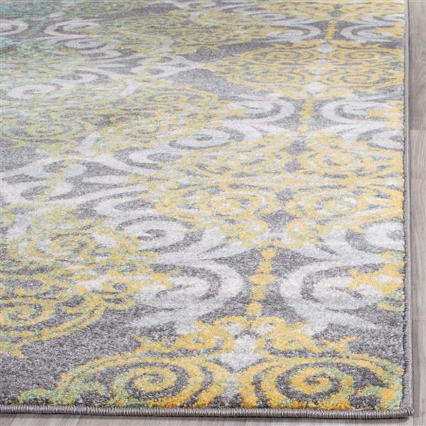 Safavieh Evoke Rug - 3' x 5' - Polypropylene - Gray/Ivory