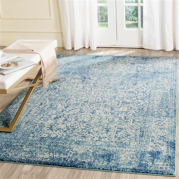 Safavieh Evoke Rug - 11' x 15' - Polypropylene - Blue/Ivory