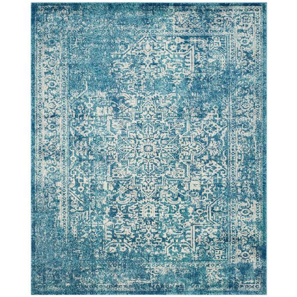 Safavieh Evoke Rug - 10' x 14' - Polypropylene - Blue/Ivory