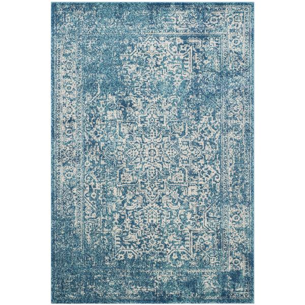 Safavieh Evoke Rug - 4' x 6' - Polypropylene - Blue/Ivory