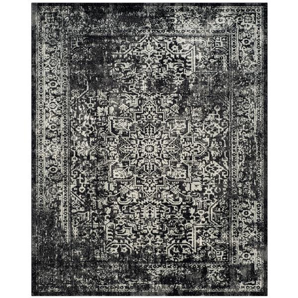 Safavieh Evoke Rug - 10' x 14' - Polypropylene - Black/Gray