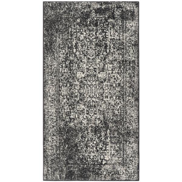Safavieh Evoke Rug - 2.2' x 4' - Polypropylene - Black/Gray