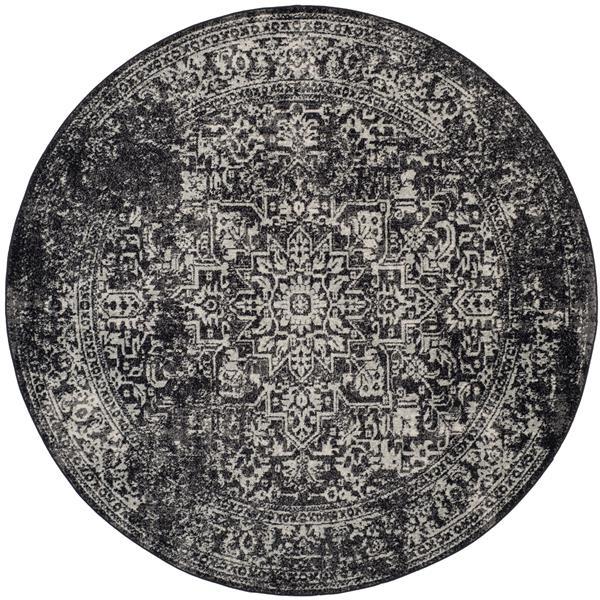 Safavieh Evoke Rug - 5.1' x 5.1' - Polypropylene - Black/Gray
