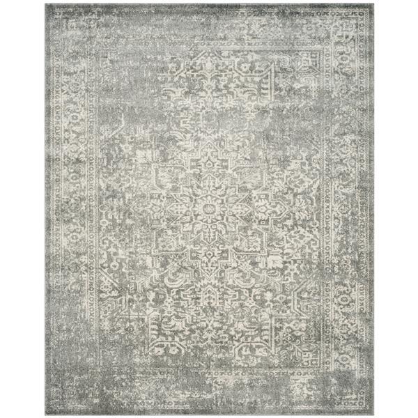 Safavieh Evoke Rug - 12' x 18' - Polypropylene - Silver/Ivory