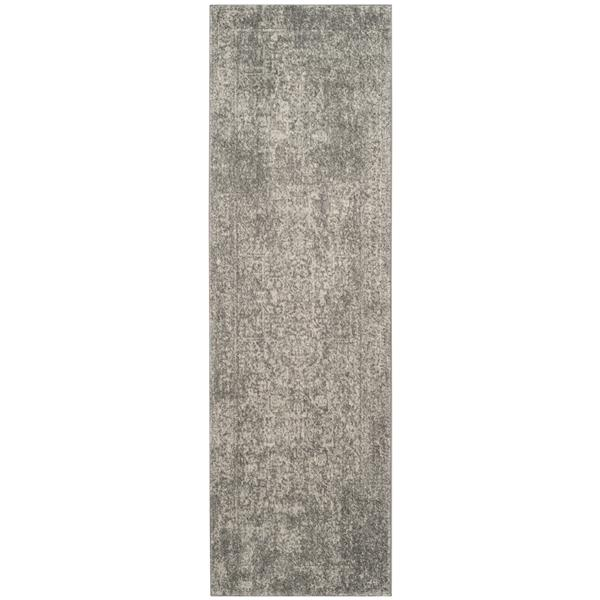 Safavieh Evoke Rug - 2.2' x 7' - Polypropylene - Silver/Ivory