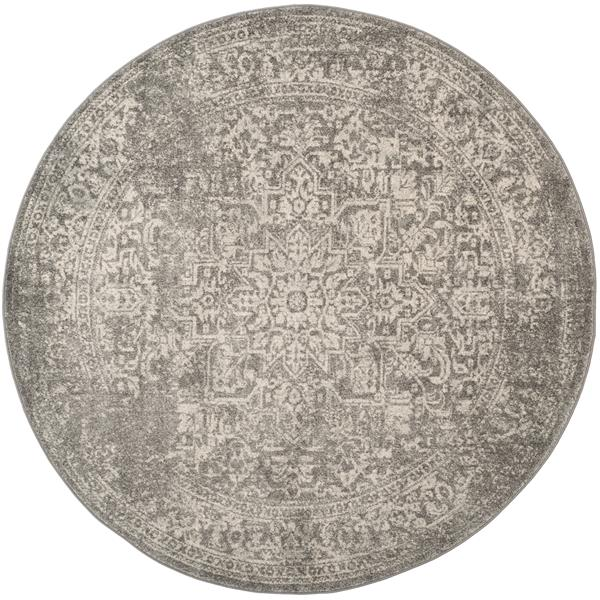 Safavieh Evoke Rug - 5.1' x 5.1' - Polypropylene - Silver/Ivory