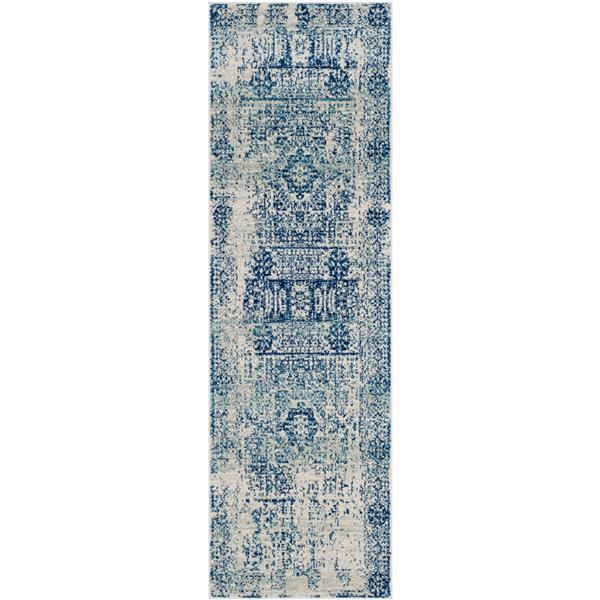 Safavieh Evoke Rug - 2.2' x 11' - Polypropylene - Ivory/Blue