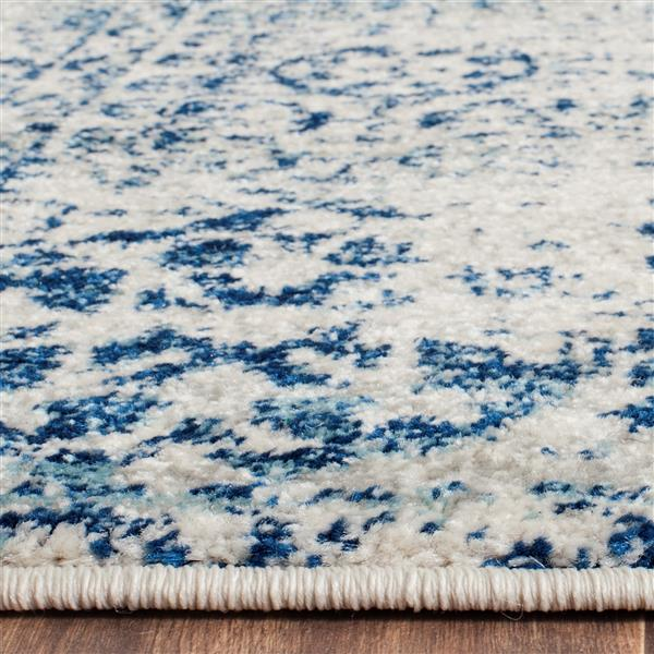 Safavieh Evoke Rug - 2.2' x 13' - Polypropylene - Ivory/Blue