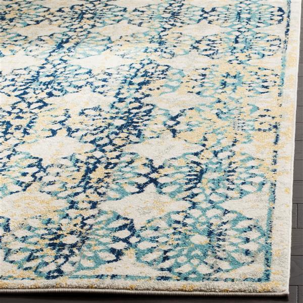 Safavieh Evoke Rug - 10' x 14' - Polypropylene - Ivory/Blue