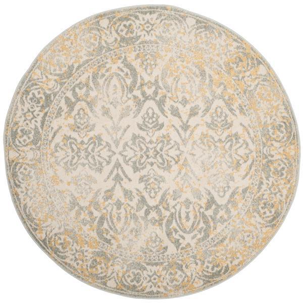 Safavieh Evoke Rug - 5.1' x 5.1' - Polypropylene - Ivory/Gray