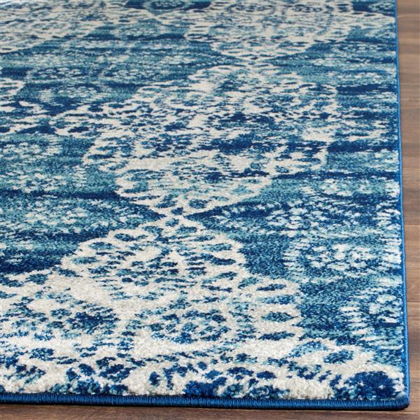 Safavieh Evoke Rug - 2.2' x 7' - Polypropylene - Royal Blue/Ivory
