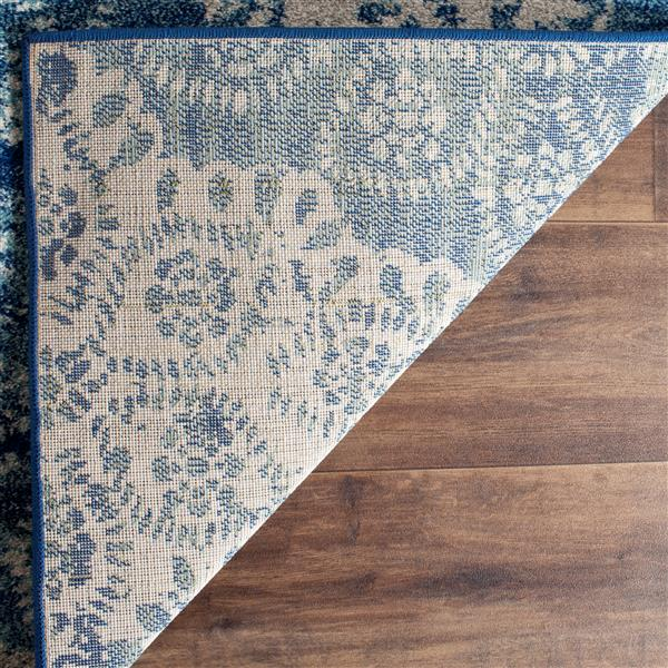 Safavieh Evoke Rug - 3' x 5' - Polypropylene - Royal Blue/Ivory