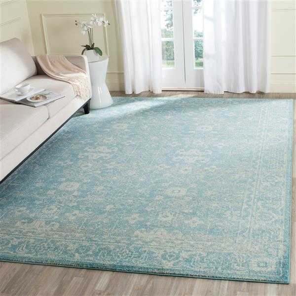 Safavieh Evoke Rug - 2.2' x 4' - Polypropylene - Light Blue/Ivory
