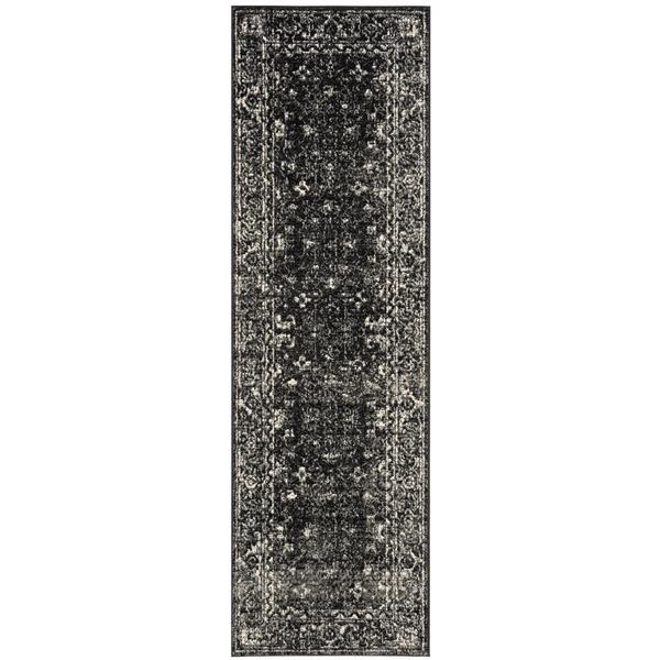 Safavieh Evoke Rug - 2.2' x 11' - Polypropylene - Charcoal/Ivory