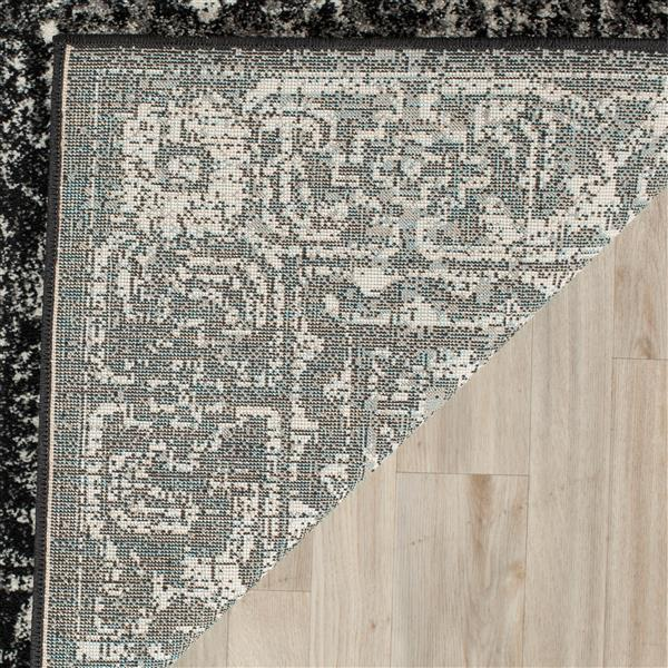 Safavieh Evoke Rug - 2.2' x 9' - Polypropylene - Charcoal/Ivory