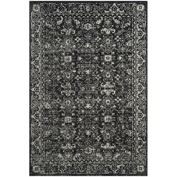 Safavieh Evoke Rug - 4' x 6' - Polypropylene - Charcoal/Ivory