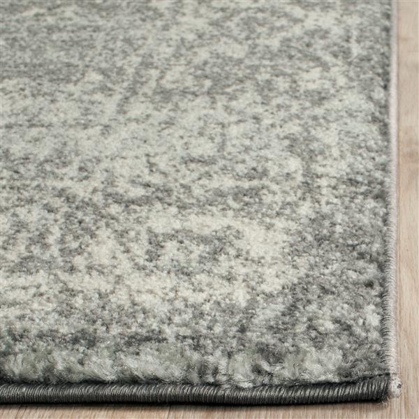 Safavieh Evoke Rug - 2.2' x 7' - Polypropylene - Gray/Ivory