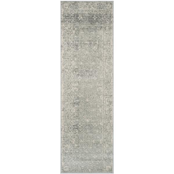 Safavieh Evoke Rug - 2.2' x 13' - Polypropylene - Silver/Ivory