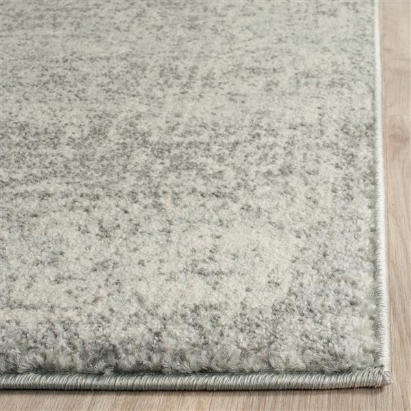 Safavieh Evoke Rug - 4' x 6' - Polypropylene - Silver/Ivory