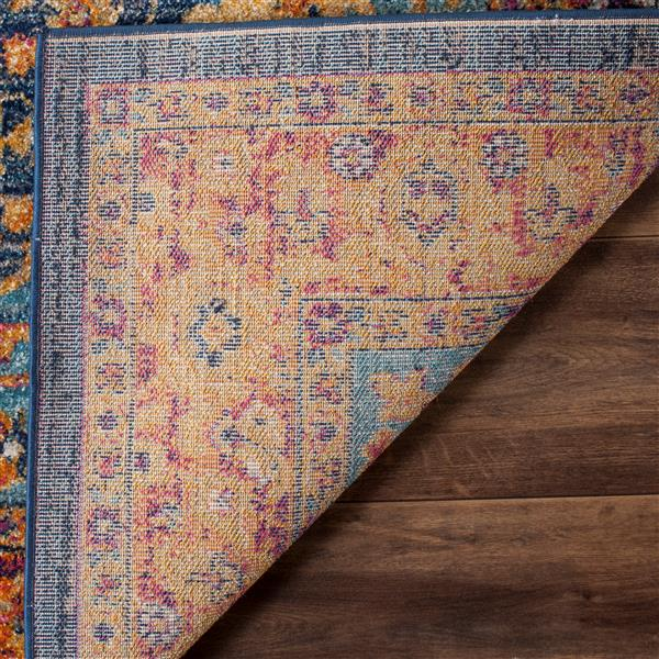 Safavieh Evoke Rug - 3' x 5' - Polypropylene - Blue/Orange