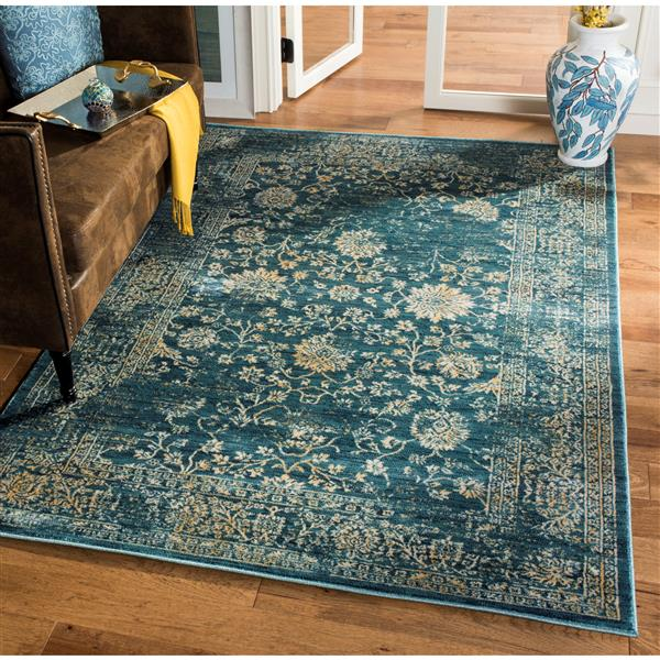 Safavieh Evoke Rug - 10' x 14' - Polypropylene - Light Blue/Beige