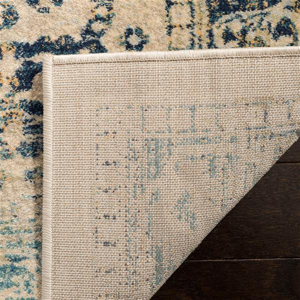 Safavieh Evoke Rug - 4' x 6' - Polypropylene - Beige/Turquoise