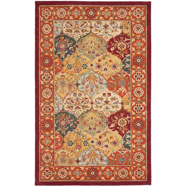Safavieh Heritage Rug - 2' x 3' - Wool - Red