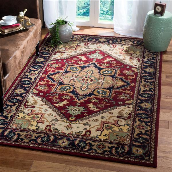 Safavieh Heritage Rug - 4' x 4' - Wool - Red