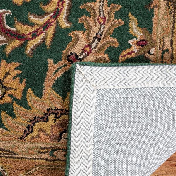 Safavieh Heritage Rug - 3' x 5' - Wool - Dark Green/Gold