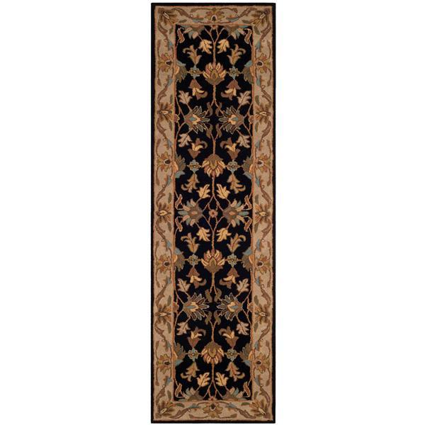 Safavieh Heritage Rug - 2.3' x 8' - Wool - Black/Beige