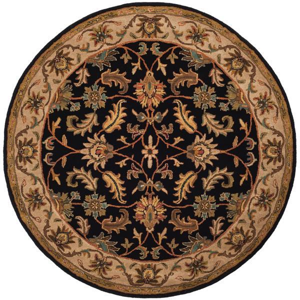 Safavieh Heritage Rug - 3.5' x 3.5' - Wool - Black/Beige