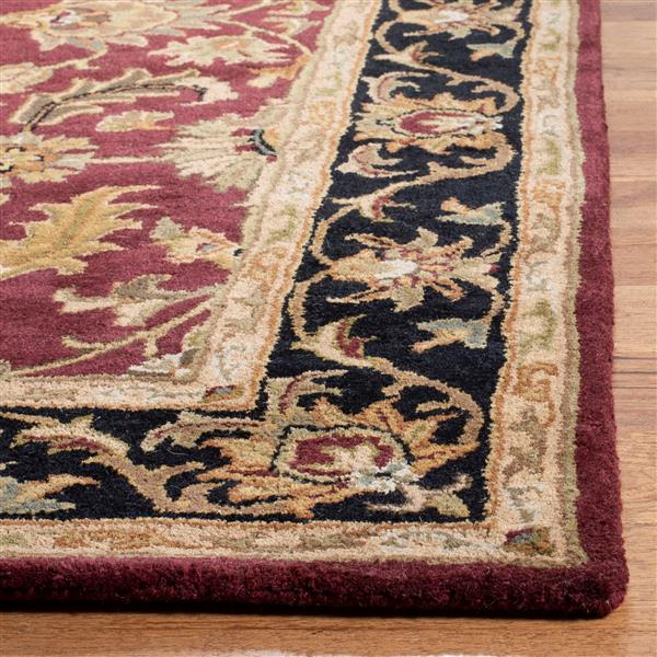 Safavieh Heritage Rug - 3' x 5' - Wool - Red/Black