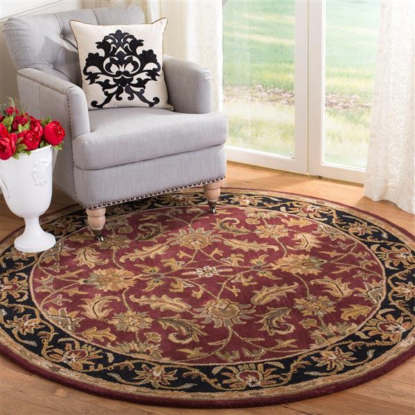 Safavieh Heritage Rug - 4' x 4' - Wool - Red/Black