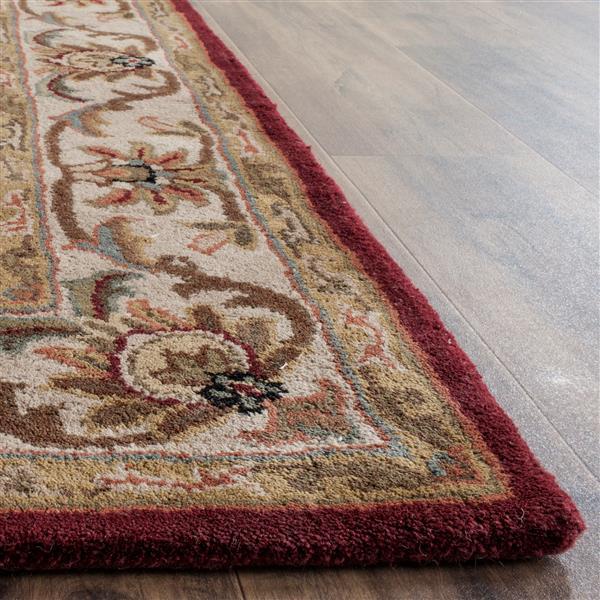 Safavieh Heritage Rug - 3' x 5' - Wool - Red/Ivory